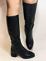 Натуральне хутро. Зимові чобітки на вузьку ногу. Натуральна шкіра. Люкс якість. Erisses. Р. 37-40, фото 2
