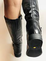 Erisses.Зимние сапоги на натуральном меху на низком каблуке. Натуральная кожа. Люкс качество.  Р. 37.40., фото 5