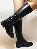 Erisses.Зимние сапоги на натуральном меху на низком каблуке. Натуральная кожа. Люкс качество.  Р. 37.40., фото 4