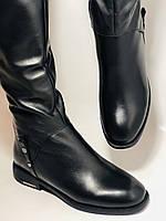 Erisses.Зимние сапоги на натуральном меху на низком каблуке. Натуральная кожа. Люкс качество.  Р. 37.40., фото 6