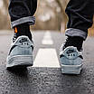 Кроссовки женские зимние Nike Air Force Grey Fur (мех), фото 3