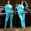 Женский костюм делового стиля двойка пиджак и брюки, фото 3