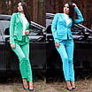 Женский костюм делового стиля двойка пиджак и брюки, фото 5