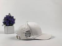 Кепка Бейсболка Мужская Женская Anti Social Social Club ASSC Белая