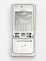 Корпус для Nokia N91, High Copy, (Полный комплект без клавиатуры) серебристый /панель/крышка/накладка /нокиа/silver