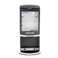 Корпус для Samsung S3310, High Copy, Серебристый с черным /панель/крышка/накладка /самсунг