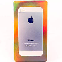 Алюминиевая Наклейка для Apple iPhone 5, (дизайн оригинальной крышки) /накладка/чехол /айфон