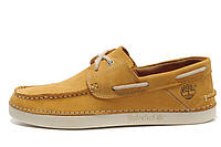 Мокасины мужские Timberland Mens Classic 2-eye Boat Shoes (тимберленд) желтые