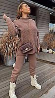 В'язаний Костюм : светр ажурною в'язки і штани (р. 42 - 58) 18KO1477, фото 1