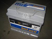 Аккумулятор 60Ah-12v INCI AKU SuprA (242х175х190), ЛЕВЫЙ+, пусковой ток 540