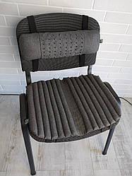 Подушка - накидка ортопедична EKKOSEAT з масажною накладкою для сидіння на стільці. Універсальна.