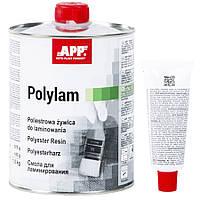 """Полиэстеровая смола для ламинирования с отвердителем """"Polylam"""", APP, 1l, 010801"""