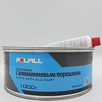 Шпаклівка алюмінієва, з затверджувачем, Polfill, 1kg