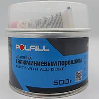 Шпаклівка алюмінієва, з затверджувачем, Polfill, 500g