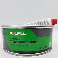 Шпаклівка зі скловолокном, з затверджувачем, Polfill, 1kg