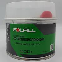 Шпаклівка зі скловолокном, з затверджувачем, Polfill, 500g