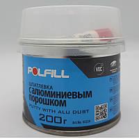 Шпаклівка алюмінієва, з затверджувачем, Polfill, 200g