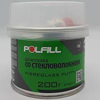 Шпаклівка зі скловолокном, з затверджувачем, Polfill, 200g
