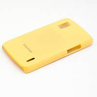 Чехол-накладка для LG Google Nexus 4 E960, пластиковый, Buble Pack, Желтый /case/кейс /лж