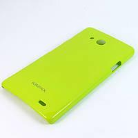 Чехол-накладка для Huawei Ascend Mate MT1-U06, пластиковый, Buble Pack, Лайм /case/кейс /хуавей