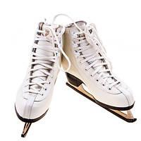 Кожаные коньки фигурные белые, размер 34 - 41