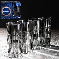 "Набор стаканов ""Даллас"" Сияющий графит 380 мл, 4 шт Luminarc."