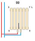 Вертикальный трубчатый радиатор BQ Quantum H-1800 мм, L-485 мм, фото 5