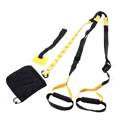 Тренировочные петли trx (трх тренажер для фитнеса, турника) | Fit Lumo Yellow 4 in 1 set, фото 2