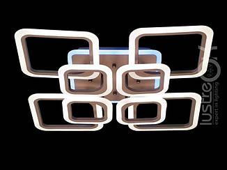 Люстра светодиодная квадратная Люстра с подсветкой A8060/4+4CF