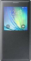 Чехол для Samsung Galaxy A7 (A700) - Samsung S View Cover EF-CA700BCEGRU