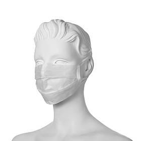 Маска медична тришарова на резинках «Славна®» Біла нестерильна 50шт