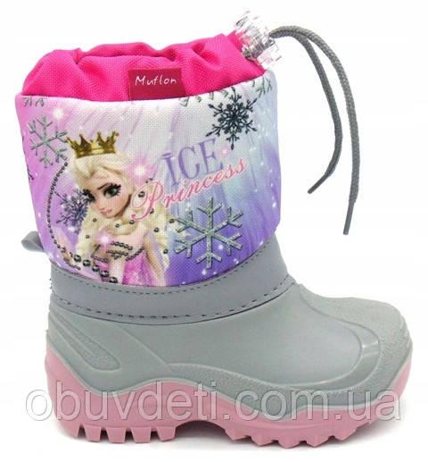 Дитячі зимові чоботи muflon для дівчинки 25-26 (16,5 см)