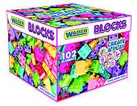 """Конструктор Wader """"Create & Play"""" 102 элемента (розовый), 1+"""