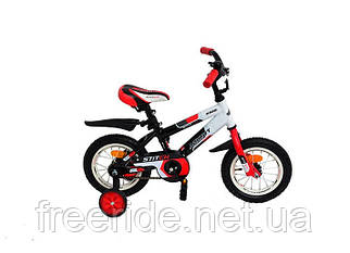 Дитячий Велосипед Azimut Stitch 12 біло-червоний