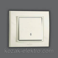 MINA Выключатель проходной 1 клавишный цвет белый