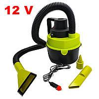 Автомобильный пылесос от прикуривателя 12 вольт The Black, машинный пылесос для уборки с доставкой