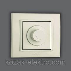 MINA Выключатель реостатный (димер) 800 Вт цвет белый