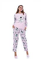 Теплая розовая пижама Турция зима 2021