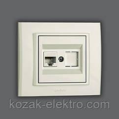 MINA Розетка компьютерная (CAT 6) цвет белый