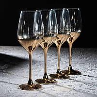 """Набор бокалов  для вина """"Электрическое золото"""" 350 мл, 4 шт, Luminarc., фото 1"""