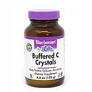 Буферизованный Витамин С в Кристаллах, Buffered C Crystals, Bluebonnet Nutrition, 4.4 унции