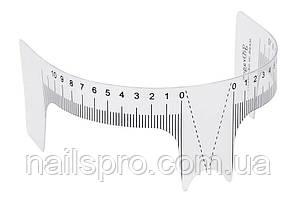 Розмічальна багаторазова лінійка для дизайну брів Т-подібна