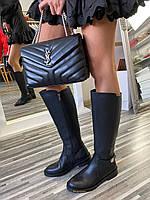 Сапоги кожаные женские Balenciaga ( баленсиага )