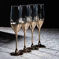"""Набор бокалов для шампанского """"Электрическое золото"""" 160 мл, 4 шт, Luminarc., фото 1"""