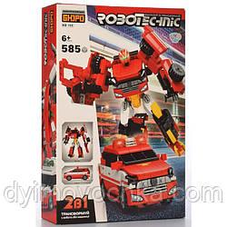 Конструктор KB 165, 2в1(робот21,5 см, машина 17,5 см), 585 деталей