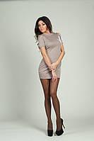 Женское платье французский трикотаж,шипы+камни