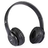 Беспроводные наушники MDR P47 MicroSD Bluetooth MP3 Black