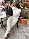 В'язаний Костюм : светр з ажурною вузький і високим коміром, штани (р. 42 - 58) 18ks1475, фото 7