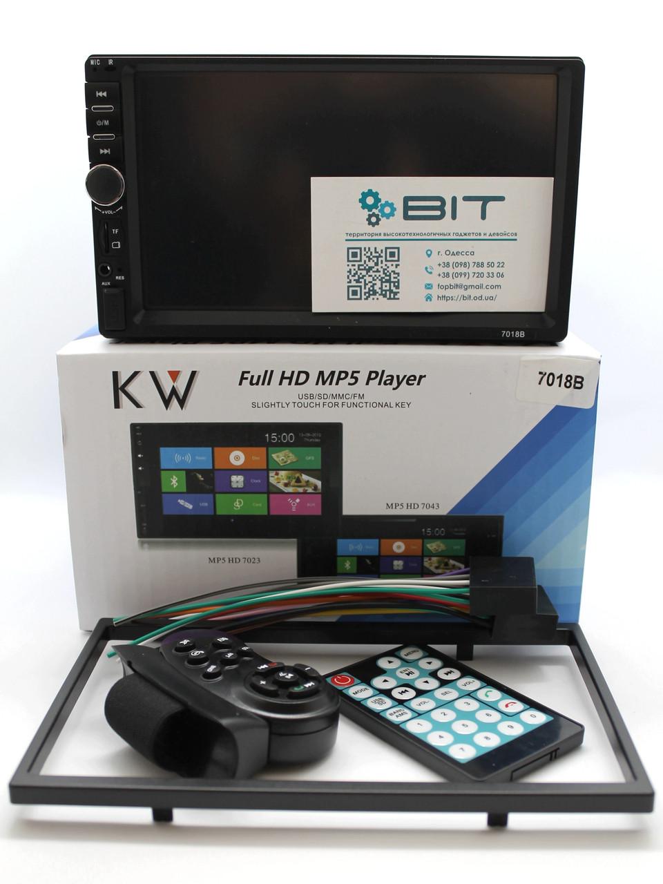Автомагнитола 2 Din с сенсорным экраном 7018B Bluetooth Рамка Пульт 2 Дин магнитола с Блютузом