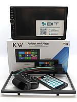 Автомагнитола 2 Din с сенсорным экраном 7018B Bluetooth Рамка Пульт 2 Дин магнитола с Блютузом, фото 1